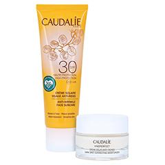 CAUDALIE Anti-Falten Sonnencreme Gesicht SPF 30 + gratis Caudalie Vinoperfect Creme 15 ml 50 Milliliter