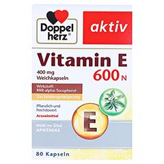 DOPPELHERZ Vitamin E 600 N Weichkapseln 80 Stück - Vorderseite