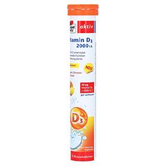 DOPPELHERZ Vitamin D3 2000 I.E. Brausetabletten 15 Stück - Linke Seite