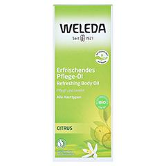 WELEDA Citrus erfrischendes Pflege-Öl 100 Milliliter - Vorderseite