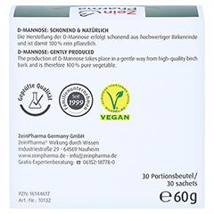 NATURAL D-Mannose 2000 mg Pulver Beutel 30x2 Gramm - Rückseite