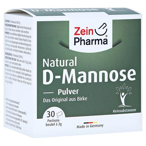 NATURAL D-Mannose 2000 mg Pulver Beutel 30x2 Gramm