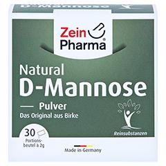 NATURAL D-Mannose 2000 mg Pulver Beutel 30x2 Gramm - Vorderseite
