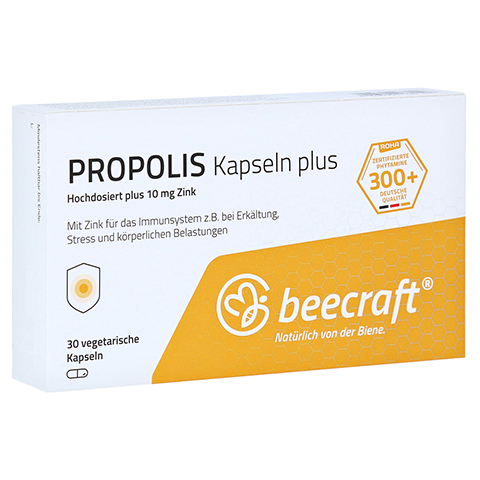 BEECRAFT Propolis Kapseln Plus 30 Stück