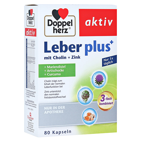 DOPPELHERZ Leber plus mit Cholin+Zink Kapseln 80 Stück