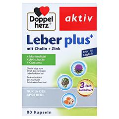 DOPPELHERZ Leber plus mit Cholin+Zink Kapseln 80 Stück - Vorderseite