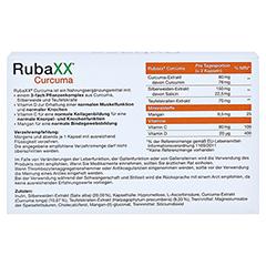 RUBAXX Curcuma Kapseln 60 Stück - Rückseite