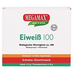 EIWEISS 100 Schoko Megamax Pulver 7x30 Gramm - Vorderseite
