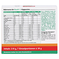 EIWEISS 100 Cappuccino Megamax Pulver 7x30 Gramm - Rückseite