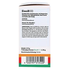 EIWEISS 100 Schoko Megamax Pulver 7x30 Gramm - Linke Seite