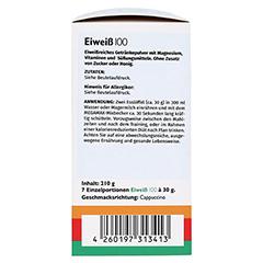 EIWEISS 100 Cappuccino Megamax Pulver 7x30 Gramm - Linke Seite
