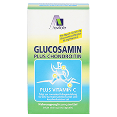 Avitale Glucosamin 500 mg + Chondroitin 400 mg + gratis Teufelskrallen Gel 180 Stück - Vorderseite