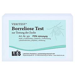 BORRELIOSE Test zur Testung der Zecke Testkarte 3 Stück - Vorderseite