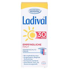 LADIVAL empfindliche Haut Creme LSF 30 + gratis Ladival Anti-Pigment Creme LSF 30 (5 ml) 50 Milliliter - Vorderseite