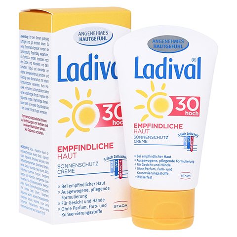 LADIVAL empfindliche Haut Creme LSF 30 50 Milliliter