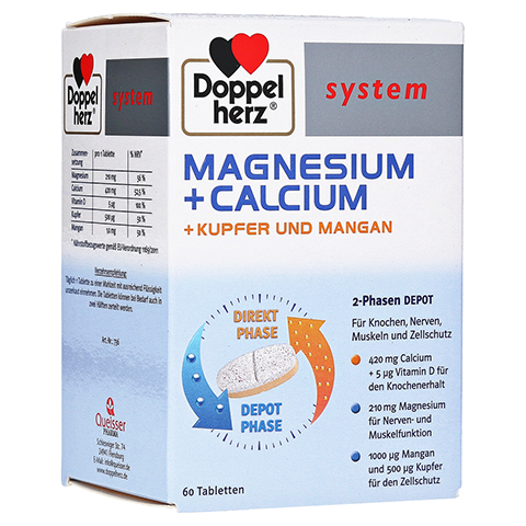 DOPPELHERZ Magnesium+Calc.+Kupfer+Mangan syst.Tab. 60 Stück