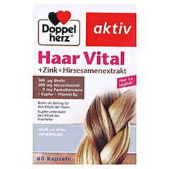 Doppelherz aktiv Haar Vital + Zink + Hirseextrakt 60 Stück - Vorderseite