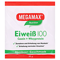 Eiweiss 100 Himbeer Megamax Pulver 30 Gramm
