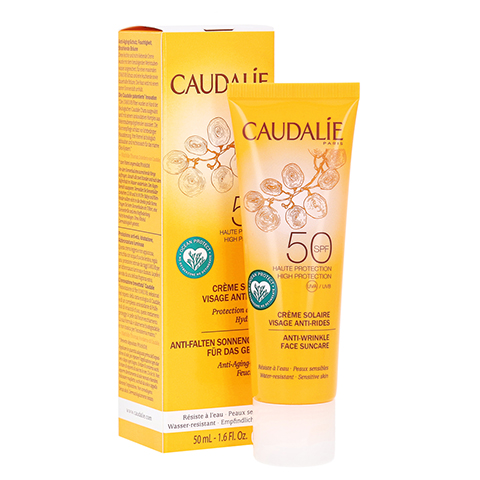 CAUDALIE Anti-Falten Sonnencreme Gesicht SPF 50 + gratis Caudalie Vinoperfect Creme 15 ml 50 Milliliter