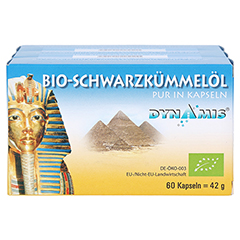 Schwarzkümmel Ägypt pur Kapseln 180 Stück - Vorderseite