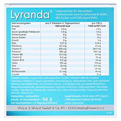 Lyranda Kautabletten 20 Stück - Rückseite