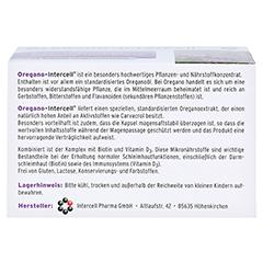 OREGANO-INTERCELL magensaftresistente Weichkapseln 60 Stück - Rückseite