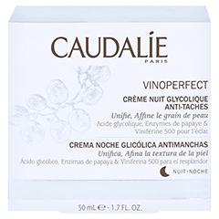 CAUDALIE Vinoperfect Nachtcreme m.Glykolsäure 50 Milliliter - Rückseite