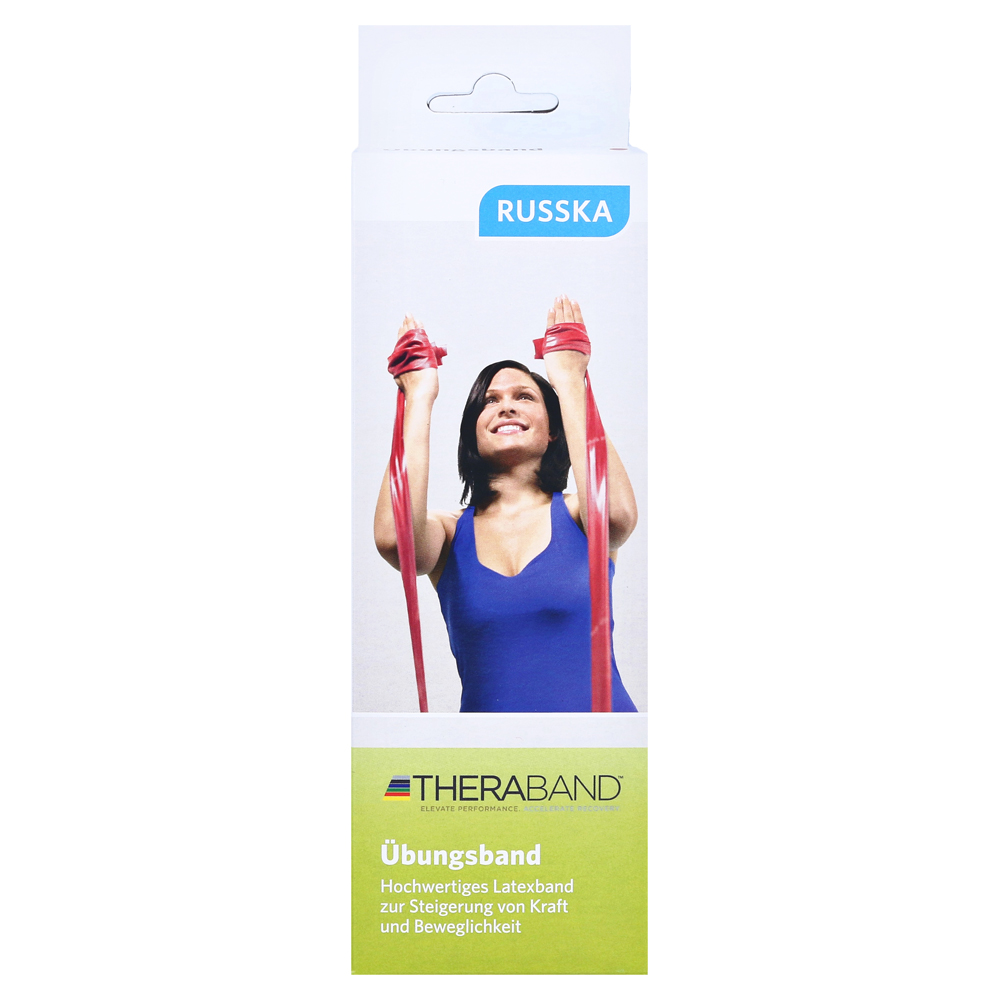 THERA-BAND ® latexfrei  2,5 m grün Gymnastikband Theraband NEU für Allergiker