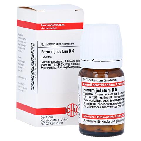 FERRUM JODATUM D 6 Tabletten 80 Stück N1