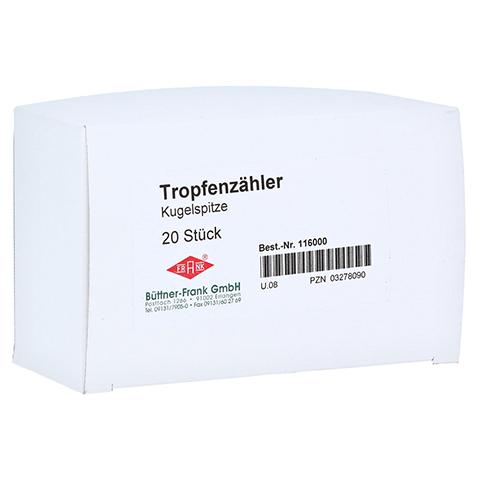 TROPFENZÄHLER Kugelspitze 20 Stück