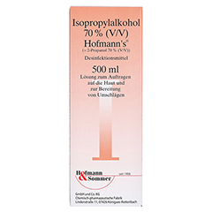 ISOPROPYLALKOHOL 70% V/V Hofmann's 500 Milliliter - Vorderseite