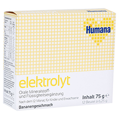HUMANA Elektrolyt Banane Pulver 75 Gramm