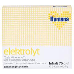 HUMANA Elektrolyt Banane Pulver 75 Gramm - Vorderseite