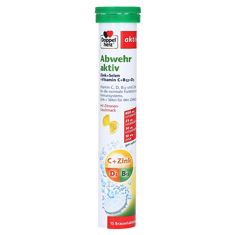 Doppelherz Abwehr aktiv Zink + Selen + Vitamin C + B12 + D3 15 Stück