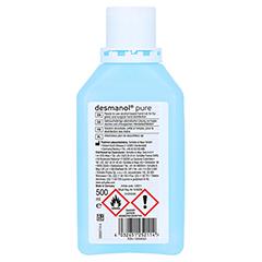 Desmanol pure Händedesinfektion Lösung 500 Milliliter - Rückseite