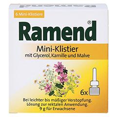 RAMEND Mini-Klistier 6x9 Gramm - Vorderseite