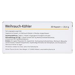 WEIHRAUCH-KÖHLER Kapseln 30 Stück - Rückseite