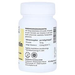BETA CAROTIN NATURAL 15 mg ZeinPharma Weichkapseln 90 Stück - Rechte Seite
