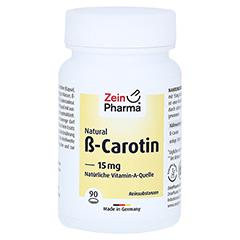BETA CAROTIN NATURAL 15 mg ZeinPharma Weichkapseln 90 Stück