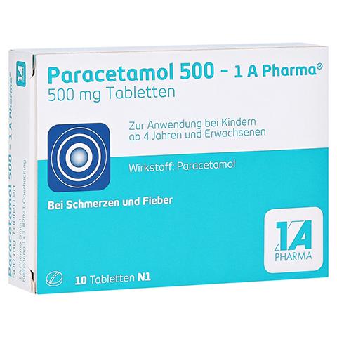 Paracetamol 500-1A Pharma 10 Stück N1