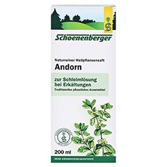 Andorn naturreiner Heilpflanzensaft Schoenenberger 200 Milliliter - Vorderseite