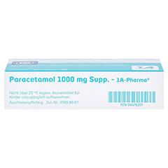 Paracetamol 1000mg-1A Pharma 10 Stück N1 - Unterseite