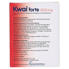 Kwai forte 300mg 180 Stück - Rückseite