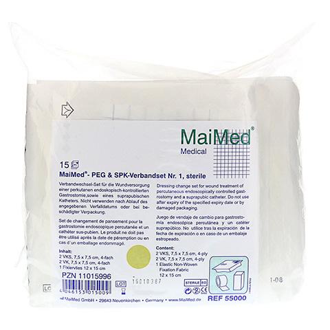 MAIMED PEG+SPK Verbandset Nr.1 steril 15 Stück