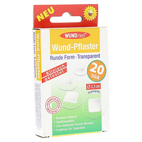 WUNDPFLASTER 2,5 cm rund transparent 20 Stück