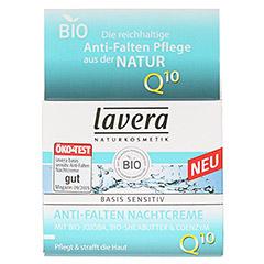 LAVERA basis sensitiv Nachtcreme Q10 dt 50 Milliliter - Vorderseite
