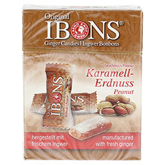 IBONS Karamell-Erdnuss Ingwerkaubonbons Orig.Scha. 60 Gramm - Vorderseite