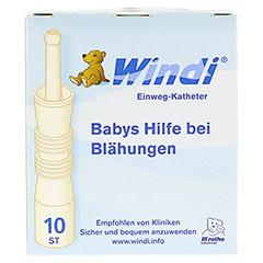 WINDI Babys Blähungshilfe Katheter 10 Stück - Vorderseite