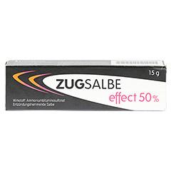 ZUGSALBE effect 50% Salbe 15 Gramm - Vorderseite