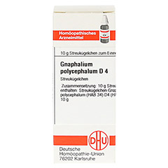 GNAPHALIUM POLYCEPHALUM D 4 Globuli 10 Gramm N1 - Vorderseite
